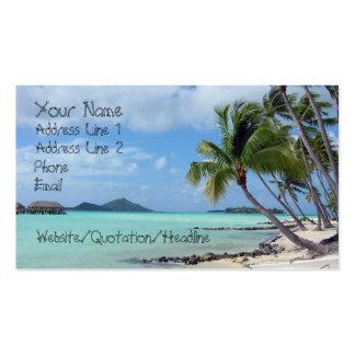 Tarjeta de visita de la laguna de Bora Bora