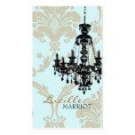 Tarjeta de visita de la lámpara 2 del damasco (men