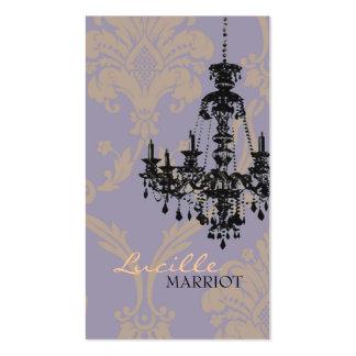 Tarjeta de visita de la lámpara 2 del damasco (púr