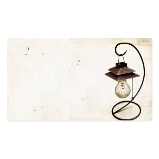 Tarjeta de visita de la lámpara de Steampunk del v