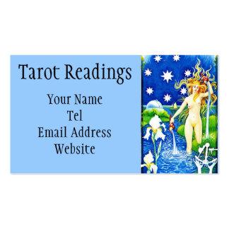 Tarjeta de visita de la lectura de Tarot de la est