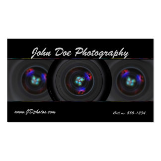 Tarjeta de visita de la lente del fotógrafo