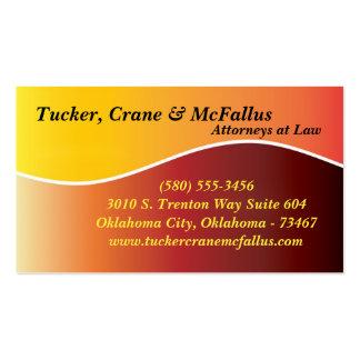 Tarjeta de visita de la ley del abogado de la curv