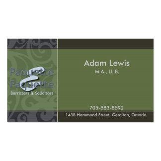 Tarjeta de visita de la ley - logotipo