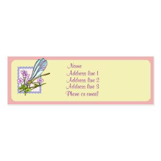 Tarjeta de visita de la libélula