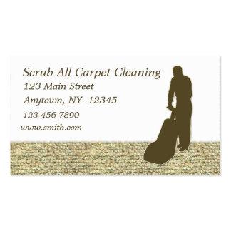 Tarjeta de visita de la limpieza de la alfombra