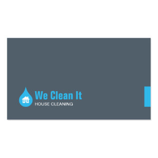Tarjeta de visita de la limpieza de la casa