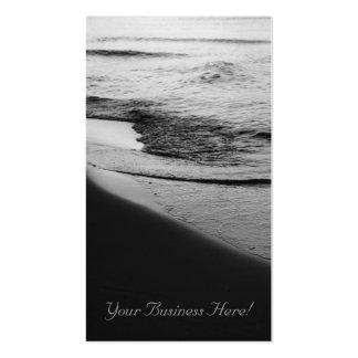 Tarjeta de visita de la línea de la playa de la