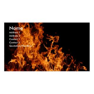 Tarjeta de visita de la llama abierta