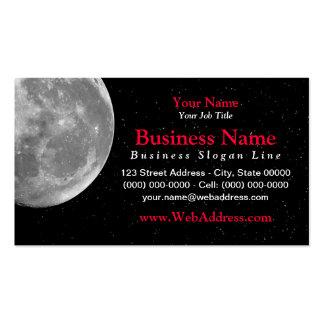 Tarjeta de visita de la luna/de la foto del espaci