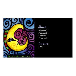 Tarjeta de visita de la luna de Swirly