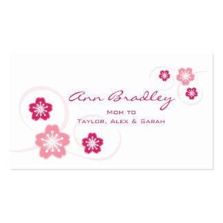 Tarjeta de visita de la mamá de la flor de cerezo