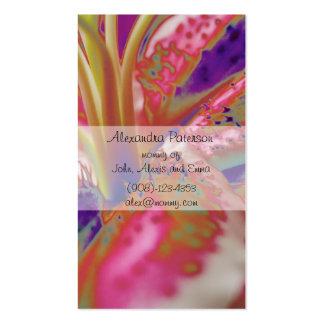 Tarjeta de visita de la mamá de la flor del lirio