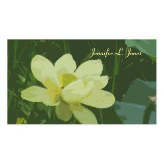 Tarjeta de visita de la mamá del flor de Lotus