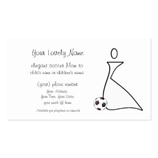 Tarjeta de visita de la mamá del fútbol
