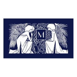 Tarjeta de visita de la mamá del monograma de los