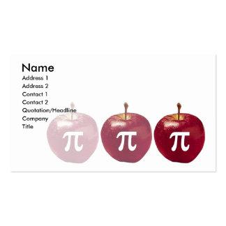 tarjeta de visita de la manzana pi