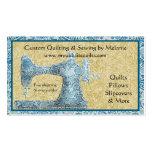 Tarjeta de visita de la máquina de coser del vinta