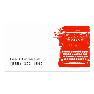 Tarjeta de visita de la máquina de escribir del es