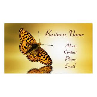 Tarjeta de visita de la mariposa