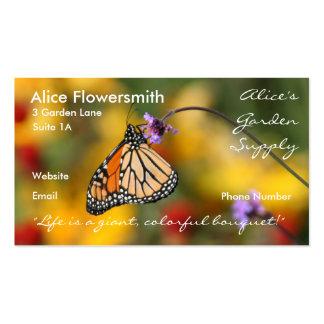Tarjeta de visita de la mariposa de monarca