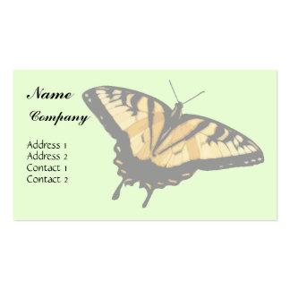 Tarjeta de visita de la mariposa de Swallowtail