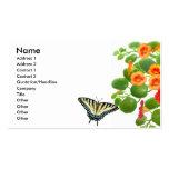 Tarjeta de visita de la mariposa de Swallowtail de