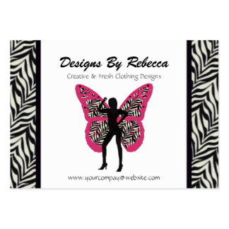 Tarjeta de visita de la mariposa del estampado de