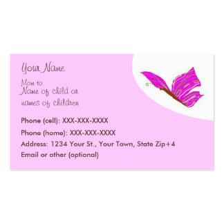 Tarjeta de visita de la mariposa - tarjeta