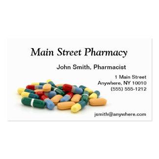 Tarjeta de visita de la medicación