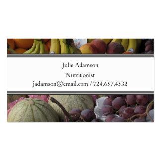 Tarjeta de visita de la mercado de la fruta