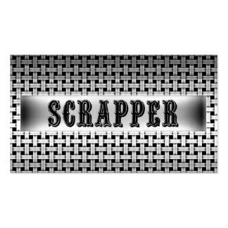 Tarjeta de visita de la mirada del metal del Scrap