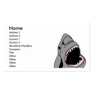 Tarjeta de visita de la mordedura del tiburón