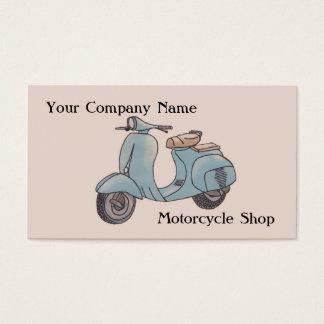Tarjeta de visita de la motocicleta