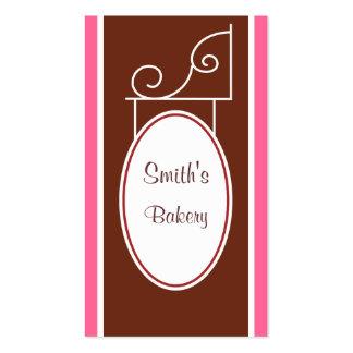 Tarjeta de visita de la muestra de Brown del vinta