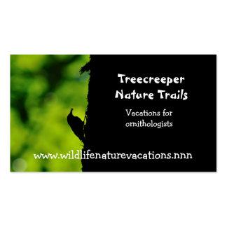 Tarjeta de visita de la naturaleza y de la fauna