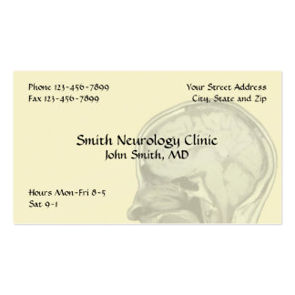 Tarjeta de visita de la neurología del neurólogo
