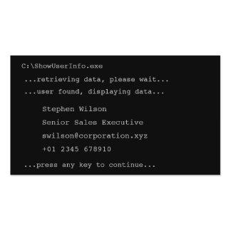 Tarjeta de visita de la novedad del estilo del DOS