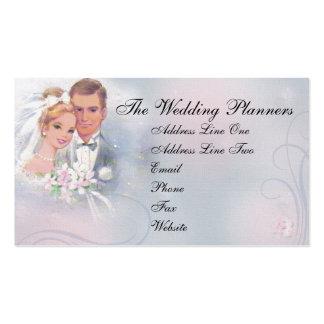 Tarjeta de visita de la novia y del novio del vint