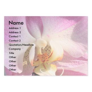 Tarjeta de visita de la orquídea