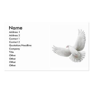 Tarjeta de visita de la paloma de la paz