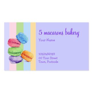 Tarjeta de visita de la panadería de 5 rayas de Ma