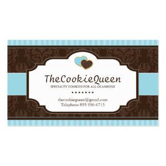 Tarjeta de visita de la panadería de la galleta de