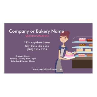 Tarjeta de visita de la panadería/de la tienda de