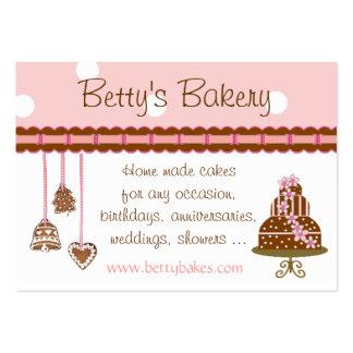 Tarjeta de visita de la panadería de la torta y de