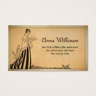 tarjeta de visita de la panadería del restaurante