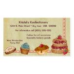 Tarjeta de visita de la panadería o de la torta