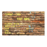 Tarjeta de visita de la pared