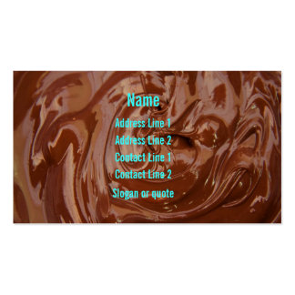 Tarjeta de visita de la pasta dura de chocolate