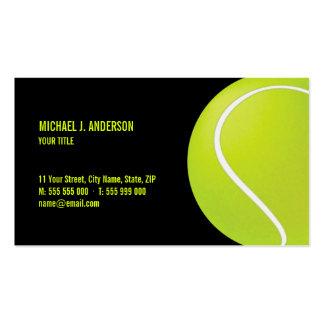 Tarjeta de visita de la pelota de tenis